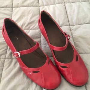 A2 red MaryJanes size 11